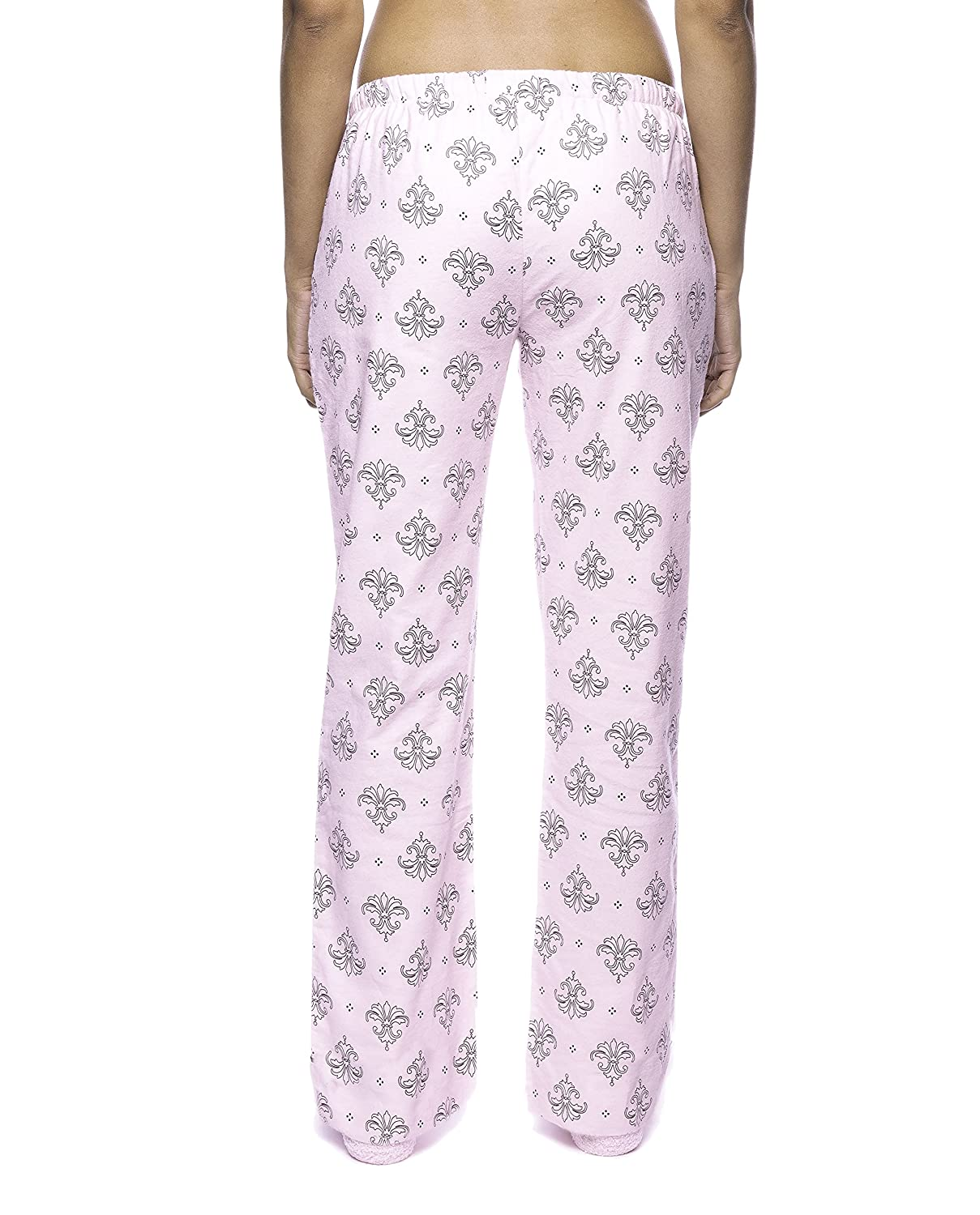 549fb7d556 Noble Mount Womens Premium 100% Cotton Flannel Lounge Pants with Pockets    Drawstring at Amazon Women s Clothing store  Pajama Bottoms