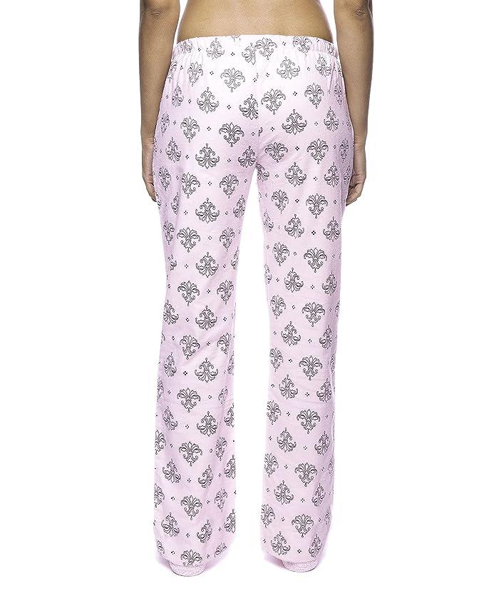 Noble Mount Pantalón Pijama de Franela para Mujer - Fleur Rosa/Negro - XS: Amazon.es: Ropa y accesorios