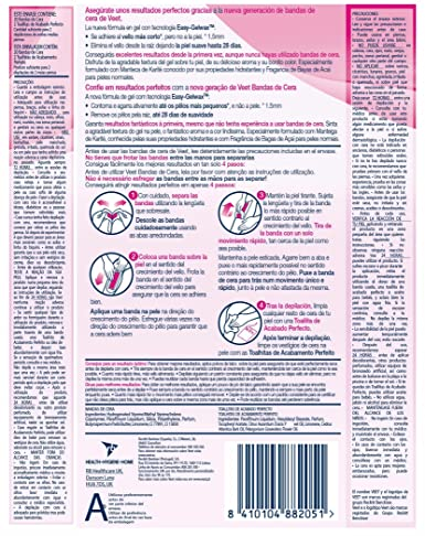 Amazon.com: Veet Easy Gelwax Body Bands Depilatory Wax Normal Skin X20: Clothing