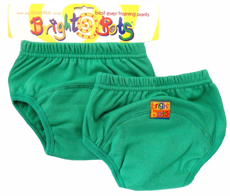 Bright Bots - Mutandine di apprendimento, confezione doppia, Small, 12-18 mesi, colore: Verde 2AAETRA1-2GS