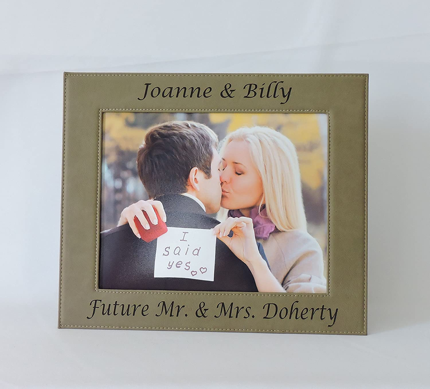Amazon engagement photo frame personalized custom picture amazon engagement photo frame personalized custom picture frame 7x5 landscape jeuxipadfo Image collections