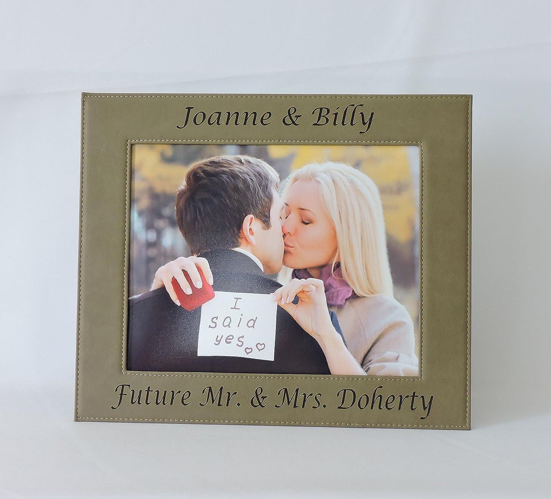 Amazon.com - Engagement Photo Frame Personalized, Custom Picture ...