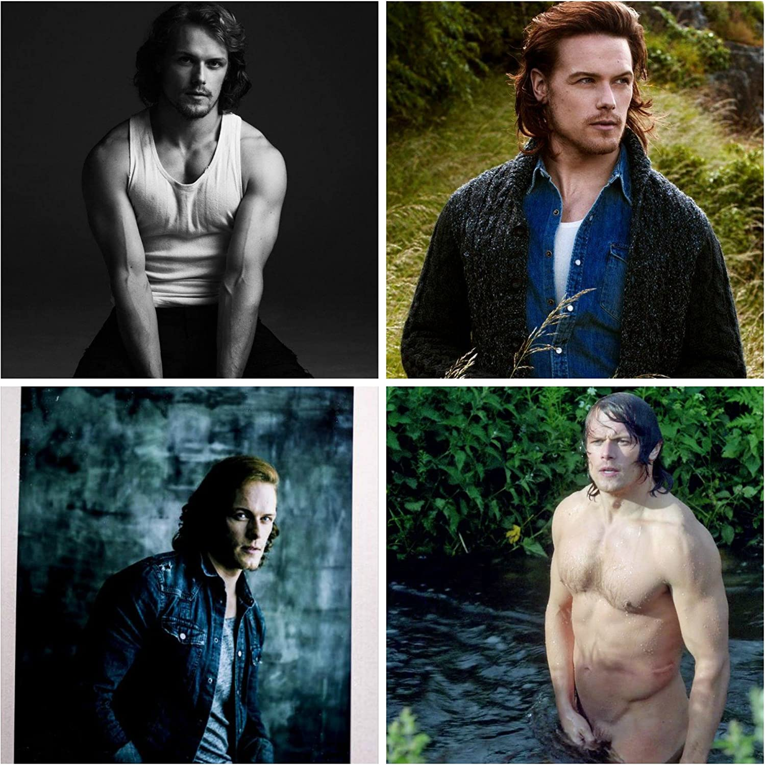 Amazon Com Sam Heughan Outlander All 4 Pictures New 4 X6 A Bundle Everything Else