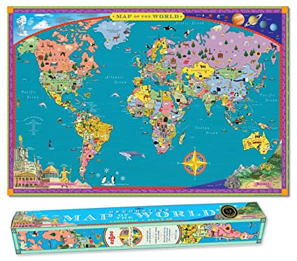 Buy eeboo world map paper box online at low prices in india eeboo world map paper box gumiabroncs Choice Image