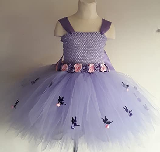 1946c3ce93 Lavender Flower Girl Bridesmaid Flower Fairy Tutu Dress Alternative ...