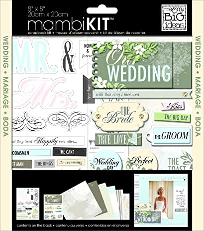 Me My BIG Ideas Scrapbook Page Kit Our Wedding 8 Inch By
