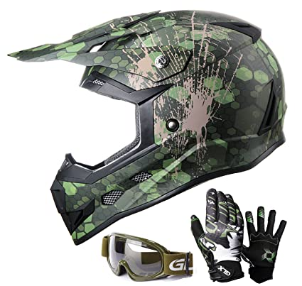 6f23287ad Amazon.com  GLX Youth   Kids Motocross ATV Dirt Bike 3-pc Gear Combo ...