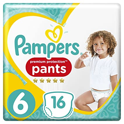 PAMPERS Premium Protection Pants tamaño 6, 16 Pañales