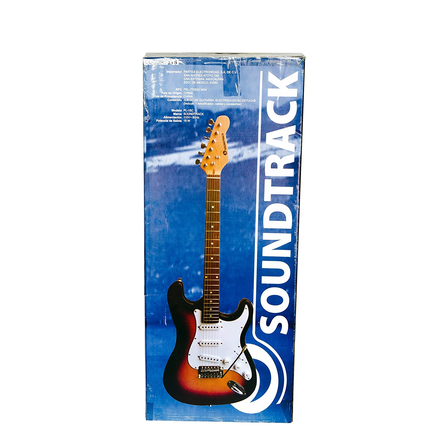 Amazon.com: Soundtrack Pro Audio PL-15C PACK Electric Guitar Pack, Sunburst: Musical Instruments