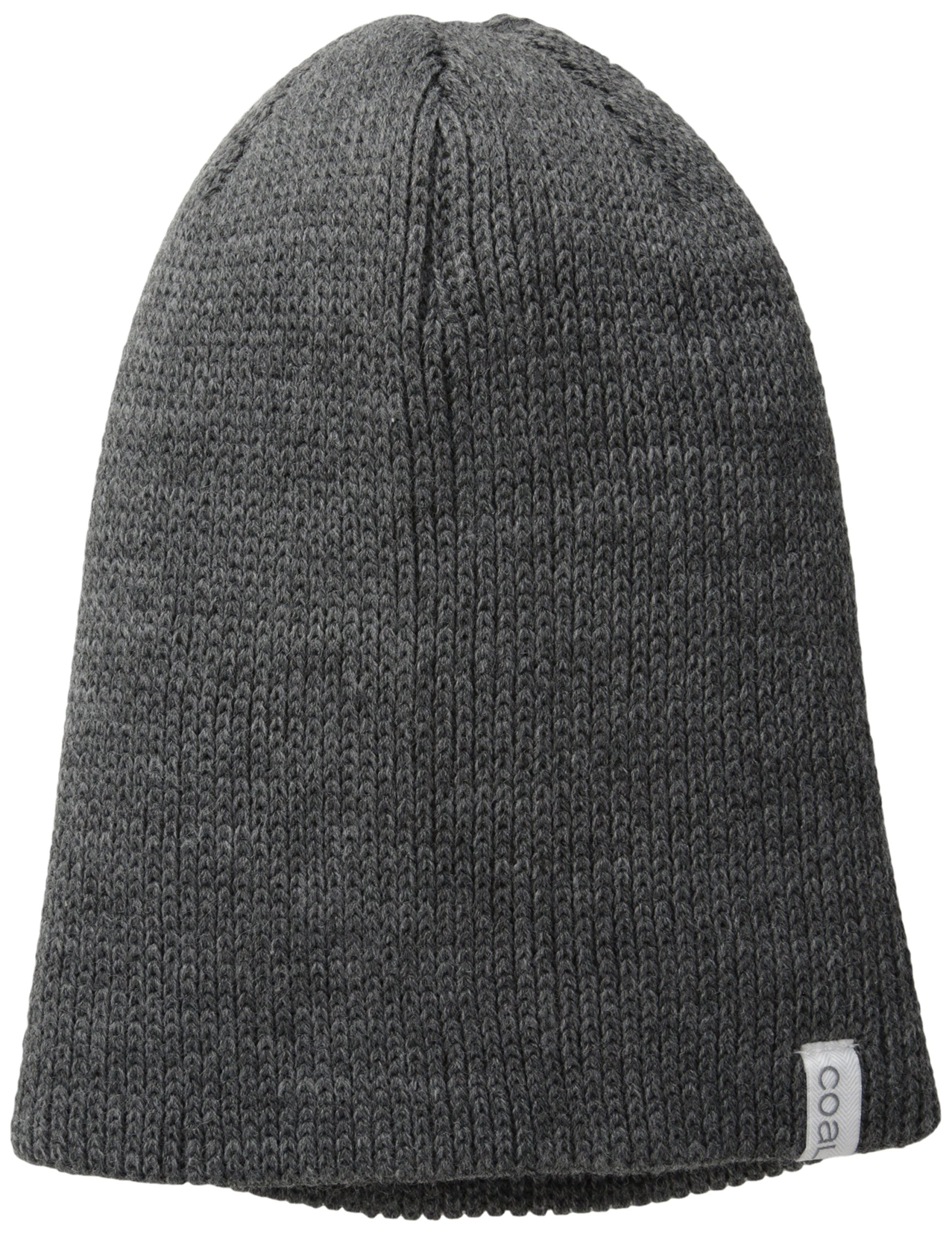 Coal Men's The Frena Solid Fine Knit Beanie Hat, Charcoal, One Size