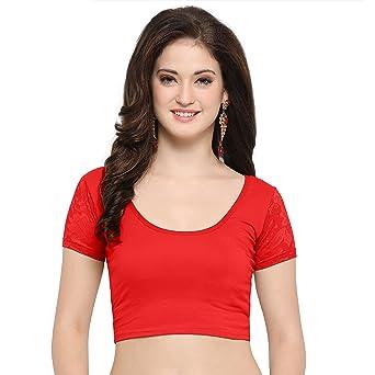 62f990462 Janasya Women s Cotton Lycra Stretchable Readymade Blouse Blouses