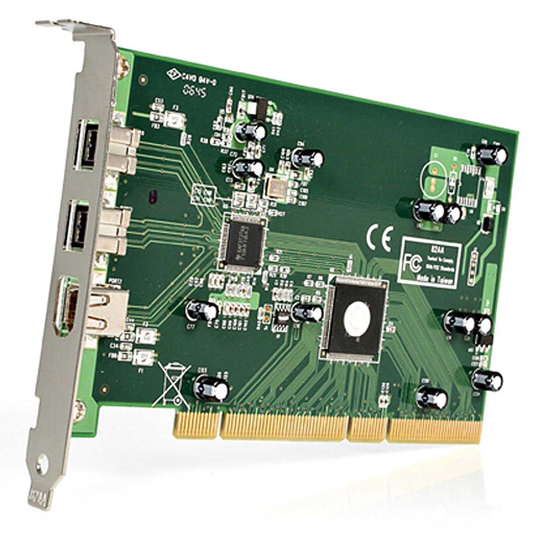 StarTech.com PCI1394B/_3 Carte adaptateur 3 ports PCI 1394b FireWire avec kit d/édition vid/éo num/érique