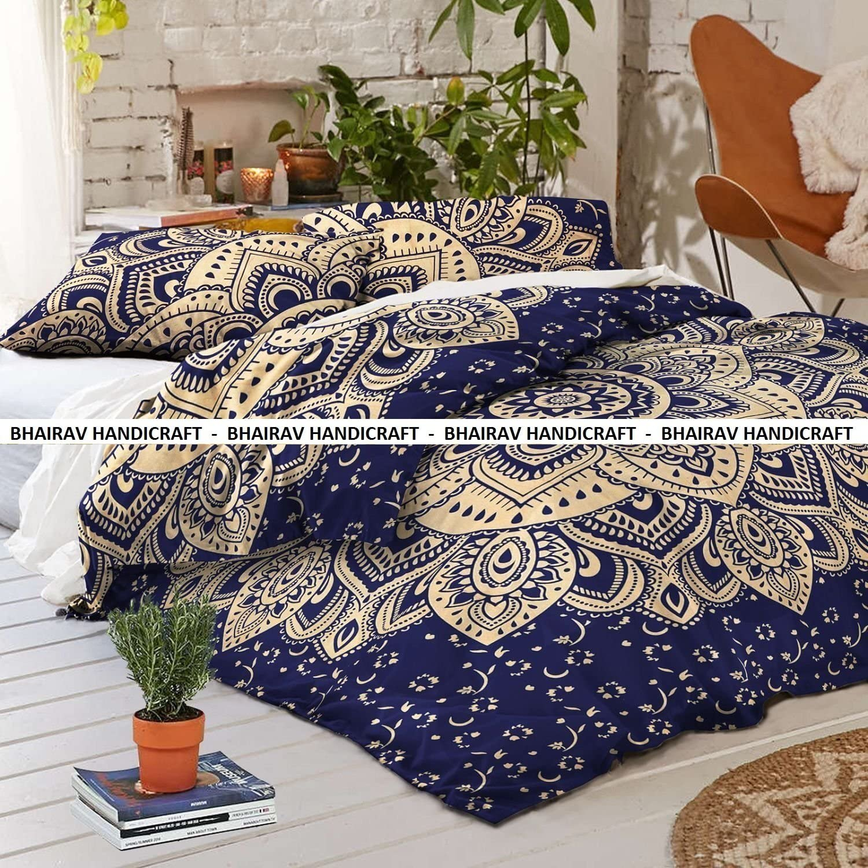 Indian Handmade Cotton Mandala Donna Duvet Cover Comforte Blanket Set Home Decor