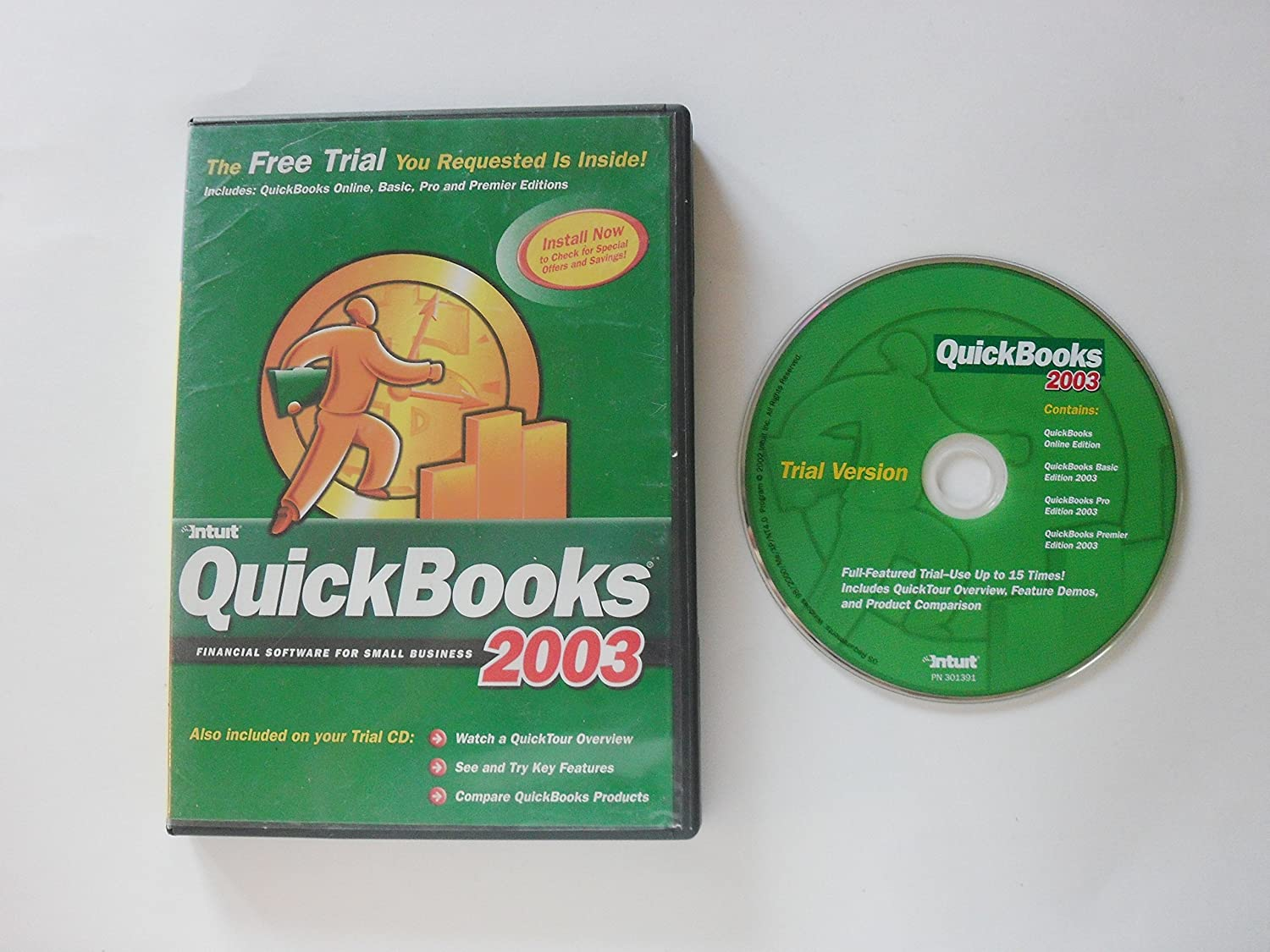 Amazon com : quickbooks 2003 getting started (trial version