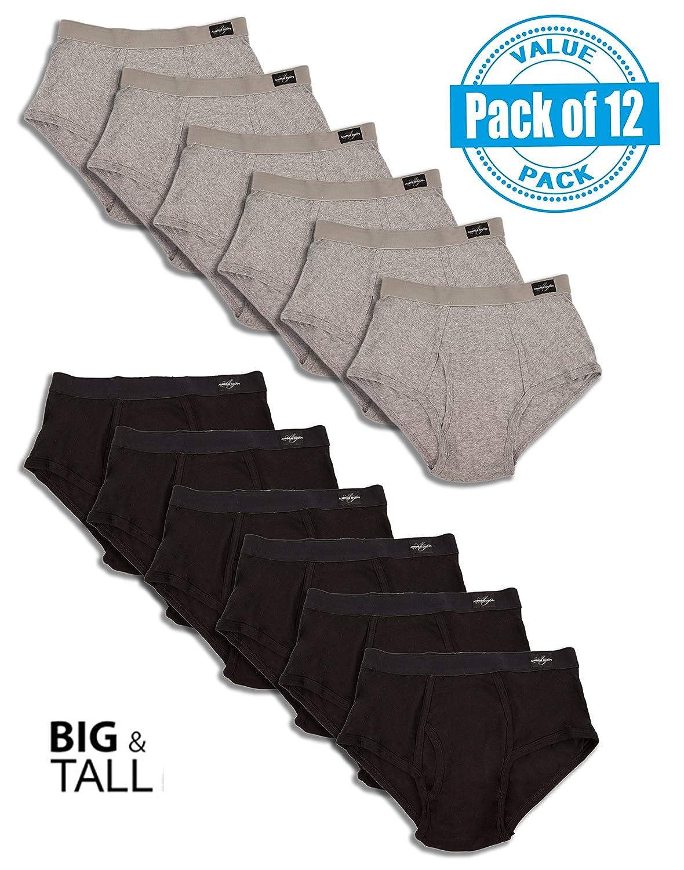 Andrew Scott Men's 12 Pack Big Man Color Cotton Briefs 79342CBMX6