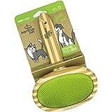 Bamboo Pet. Cepillo para Pelo Largo para Mascotas, 100% Bambú Natural Biodegradable con Cerdas de Acero para Limpiar Adecuada