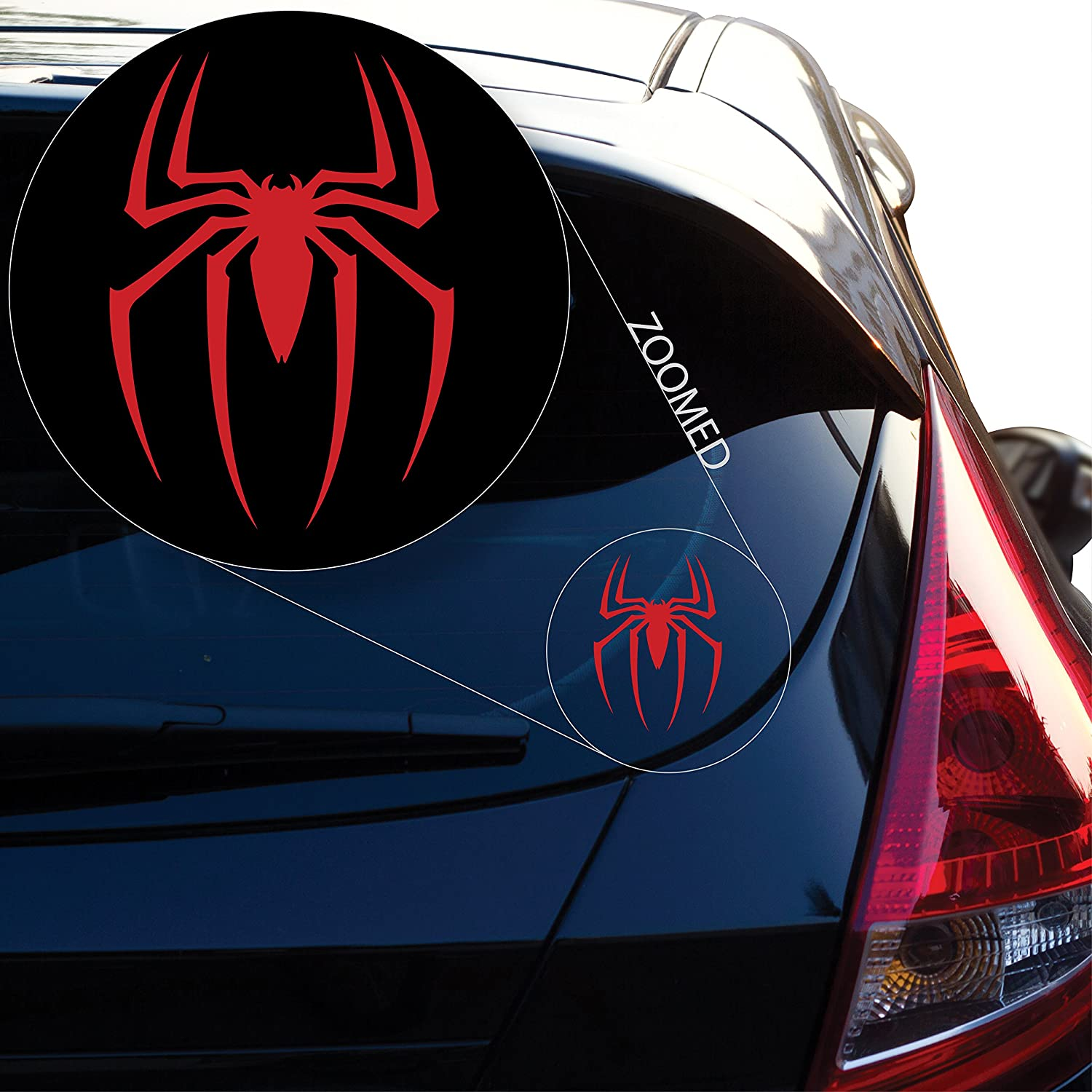 # 517 Yoonek Graphics Spider Man Decal Sticker for Car Window Laptop and More # 517 Laptop and More 12 x 8.6 12 x 8.6, Black