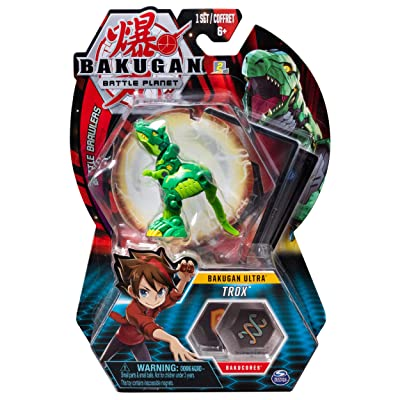 Bakugan Ultra, Trox, 3-inch Tall Collectible Transforming Creature, for Ages 6 and Up: Toys & Games