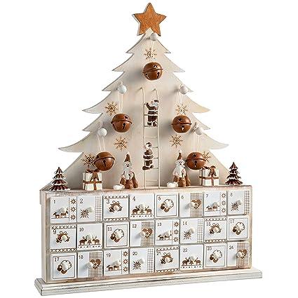 Calendrier De Lavent En Bois A Decorer Pas Cher.Werchristmas Calendrier De L Avent Sapin De Noel Decoratif