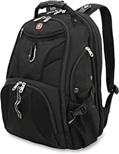 SWISSGEAR 1900 ScanSmart Laptop Backpack | Fits Most 17 Inch Laptops and Tablets | TSA Friendly Backpack | Ideal for Work, Travel, School, College, School, and Commuting- Black