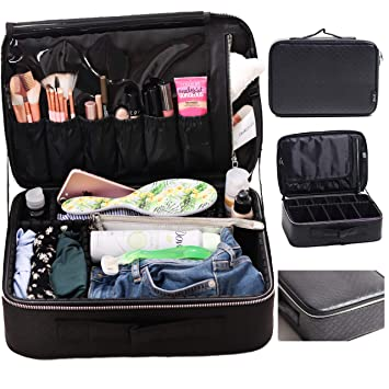 Amazoncom Travel Makeup Train Case By Beauty By Mdh