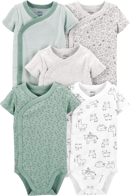 Simple Joys by Carters Unisex Baby 5-Pack Short Sleeve Side Snap Bodysuit