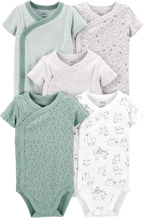 Simple Joys by Carters Baby Boys 5-Pack Side-snap Long-Sleeve Shirt
