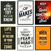Paper Plane Design Inspirational Posters (Paper, 30.48 cm X 0.65 cm X 45.72 cm, Multicolour, Set of 6, Posters_2018_Design: 66)