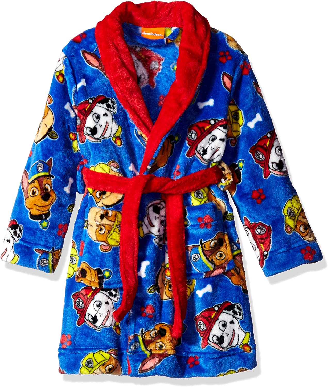 Paw Patrol Character Toddler Boys Luxe Fleece and Sherpa Bathrobe Robe