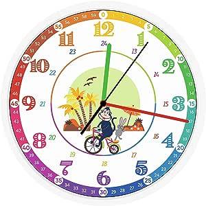 Reloj de pared para niños, diseño original para facilitar