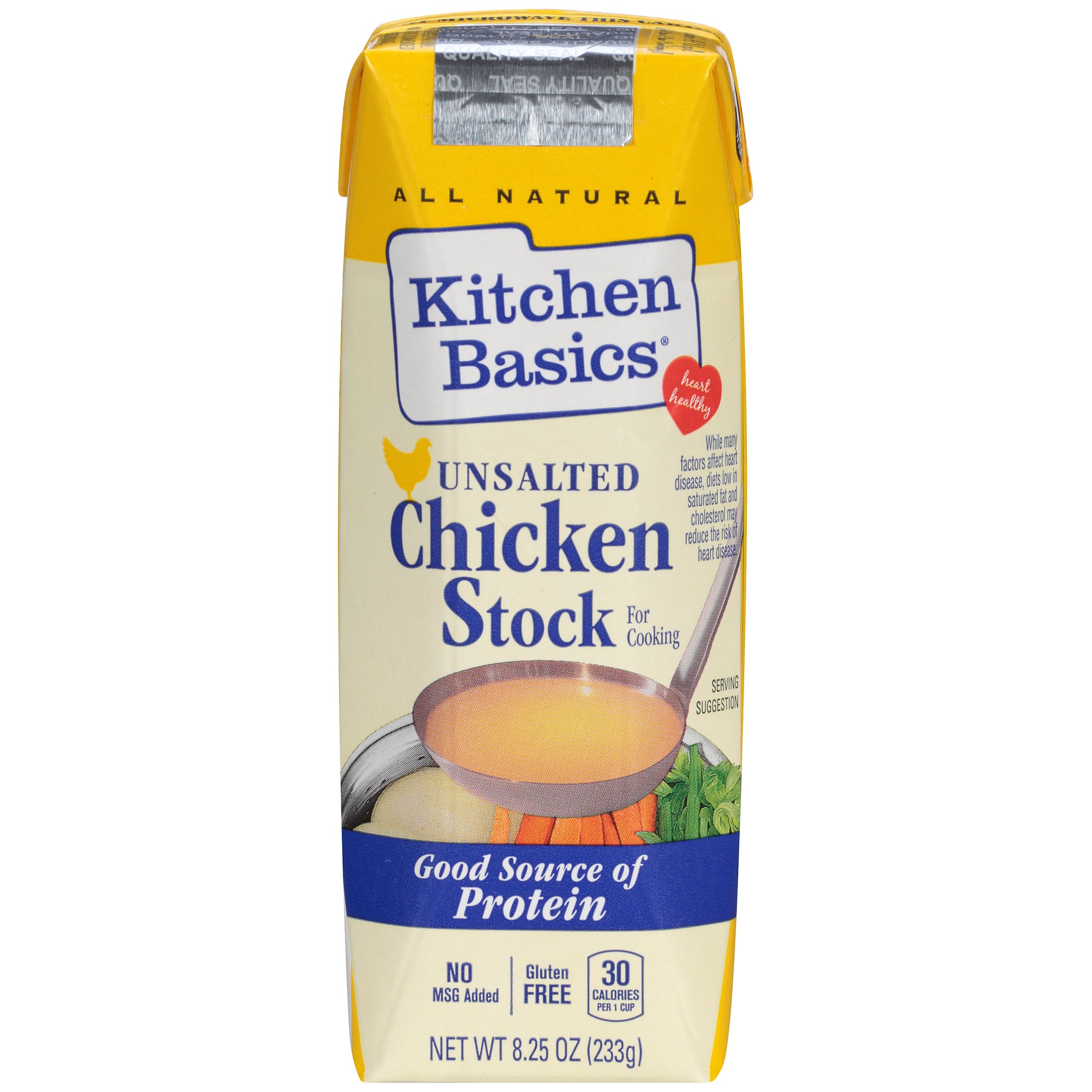 Amazon.com : Kitchen Basics UnSalted Stock, Chicken, 32 Ounce (Pack ...