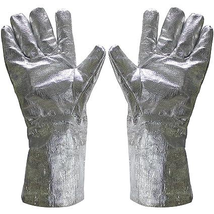 amazon com funshowcase 15 aluminized safety melting furnace gloves
