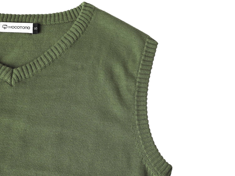Mens V-Neck Cotton Vest Casual Sleeveless Sweater