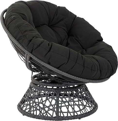 OSP Designs BF25292-BK Papasan Chair