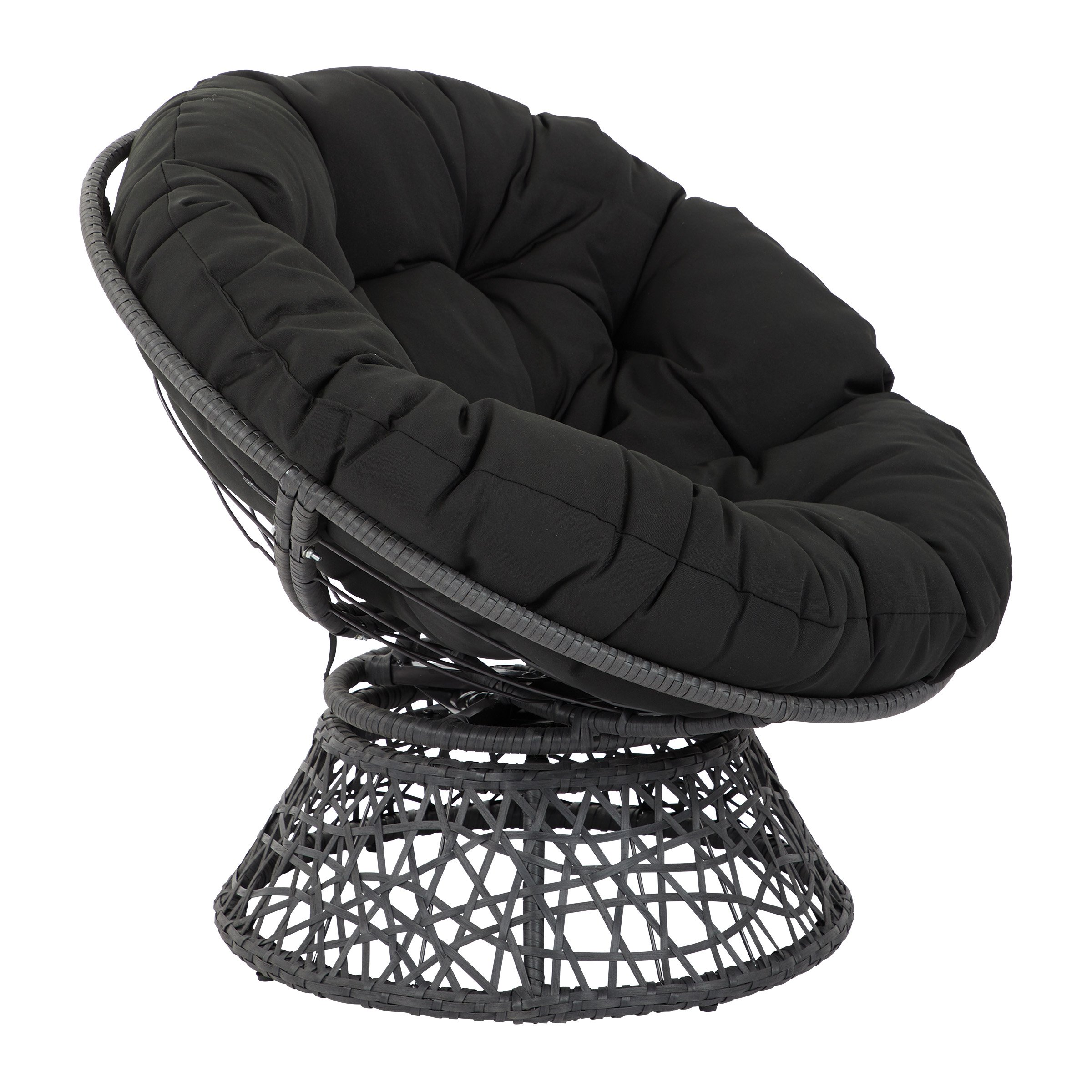 OSP Designs  Papasan Chair, Black by OSP Designs