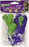 6 ballons latex imprimés Tortues Ninja Vert et Violet
