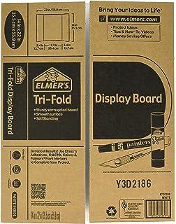 amazon com elmer s tri fold premium foam display board black