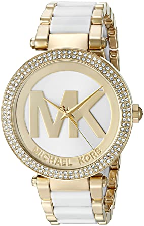 b47355cdeab Image Unavailable. Image not available for. Color  Michael Kors Women s Parker  Gold-Tone Watch MK6313