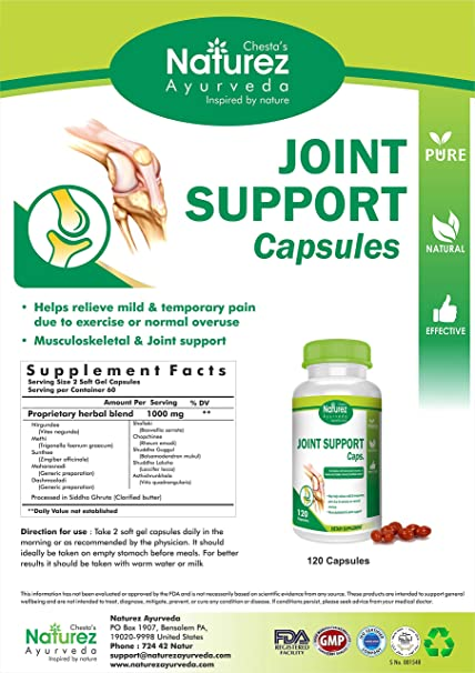 Amazon.com: Naturez Ayurveda Joint Pain Support Kit- 100% Natural Arthritis Joint Pain Relief Supplement. Natural Anti-Inflammatory Pills & Oil for Your ...