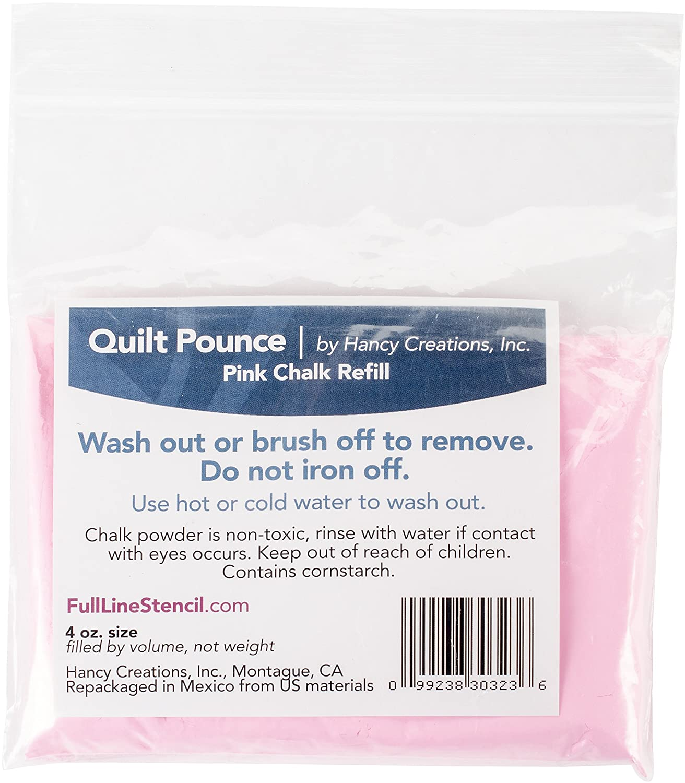 Quilt Pounce Chalk Refill, 4oz Pink Hancy 30323