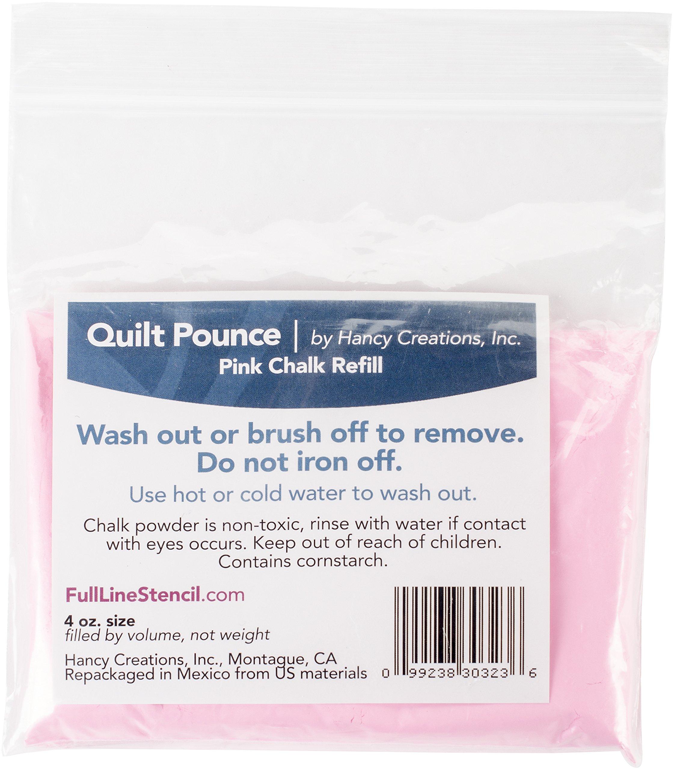Quilt Pounce Chalk Refill, 4oz Pink