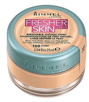 Rimmel London Fresher Skin Foundation, 25 ml - Ivory (Shade Number 100)