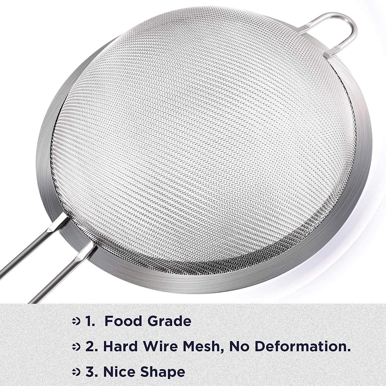 malla fina, mango reforzado 12 cm RBC Colador de acero inoxidable