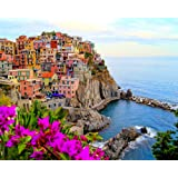 Amazing Amalfi - Modern Monet Paint by Numbers Kits for Adults, 16x20