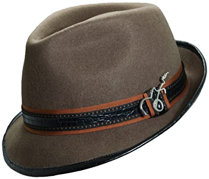 e43a592b76936 Carlos Santana Wool Felt Fedora with Guitar Pin - Meditation (SAN216)-Khaki-