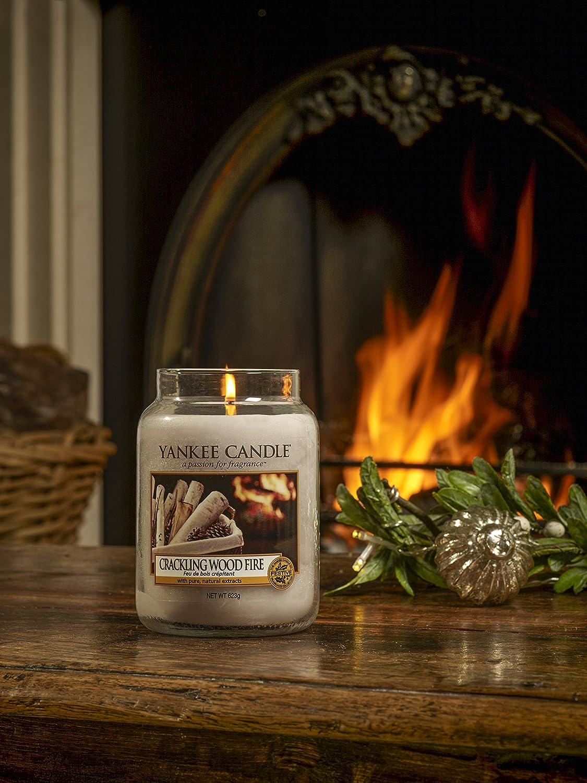 Yankee Candle Classic Jar Crackling Wood Fire Grey 107 X 107 X