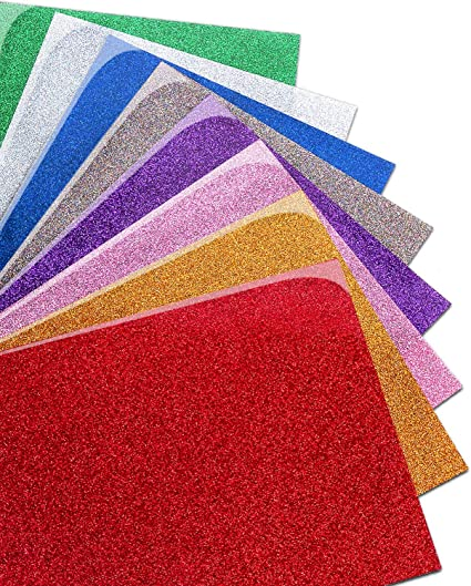 """GLITTER 7 COLORS Siser  Heat Press Transfer Vinyl KIT for fabrics 20/"""" x 36/"""" each"""