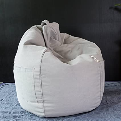 Fine Amazon Com Fashion Beanbag Cover For Adult Light Grey Ibusinesslaw Wood Chair Design Ideas Ibusinesslaworg
