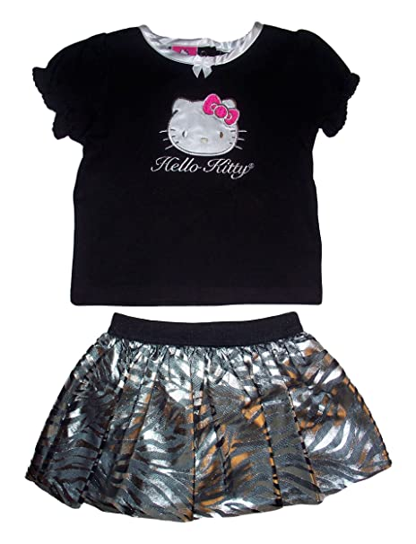 d1a39b5a7 Amazon.com: Hello Kitty Infant Girls 2pc Black/Silver Scooter Skirt ...