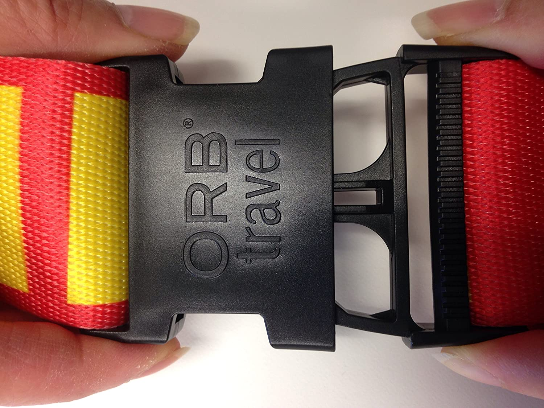 ORB Travel Premium Designer Luggage Strap LS225-BWR-Houndstooth-Black//White//Red